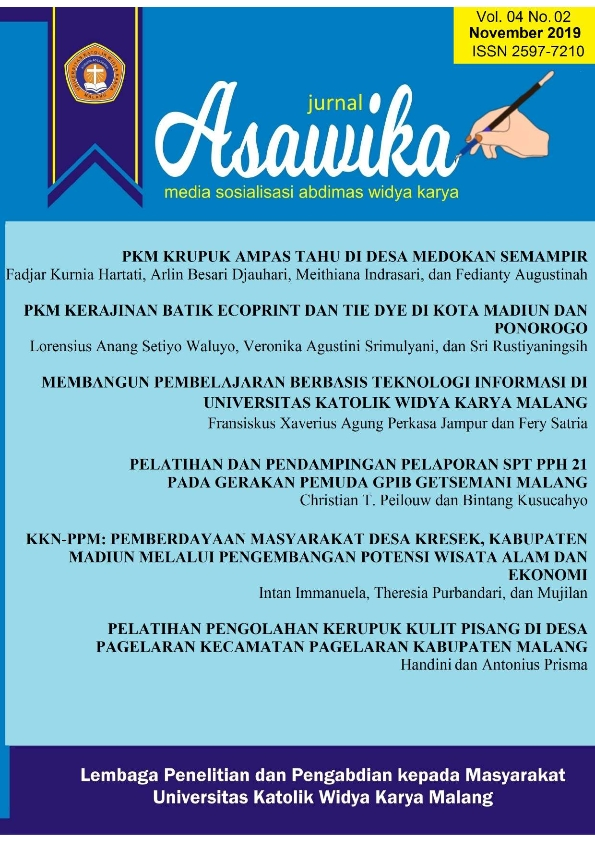 JURNAL ASAWIKA VOL. 04 NO. 02 EDISI NOVEMBER 2019